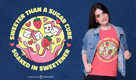 Mais doce do que o design de camiseta de açúcar