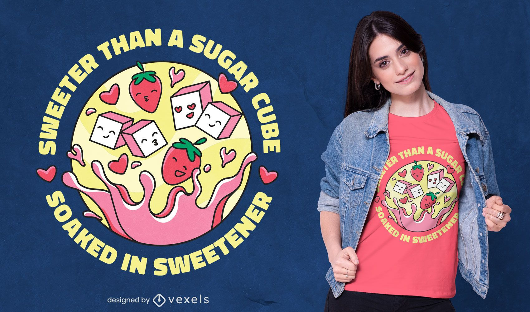 Sweeter than sugar t-shirt design