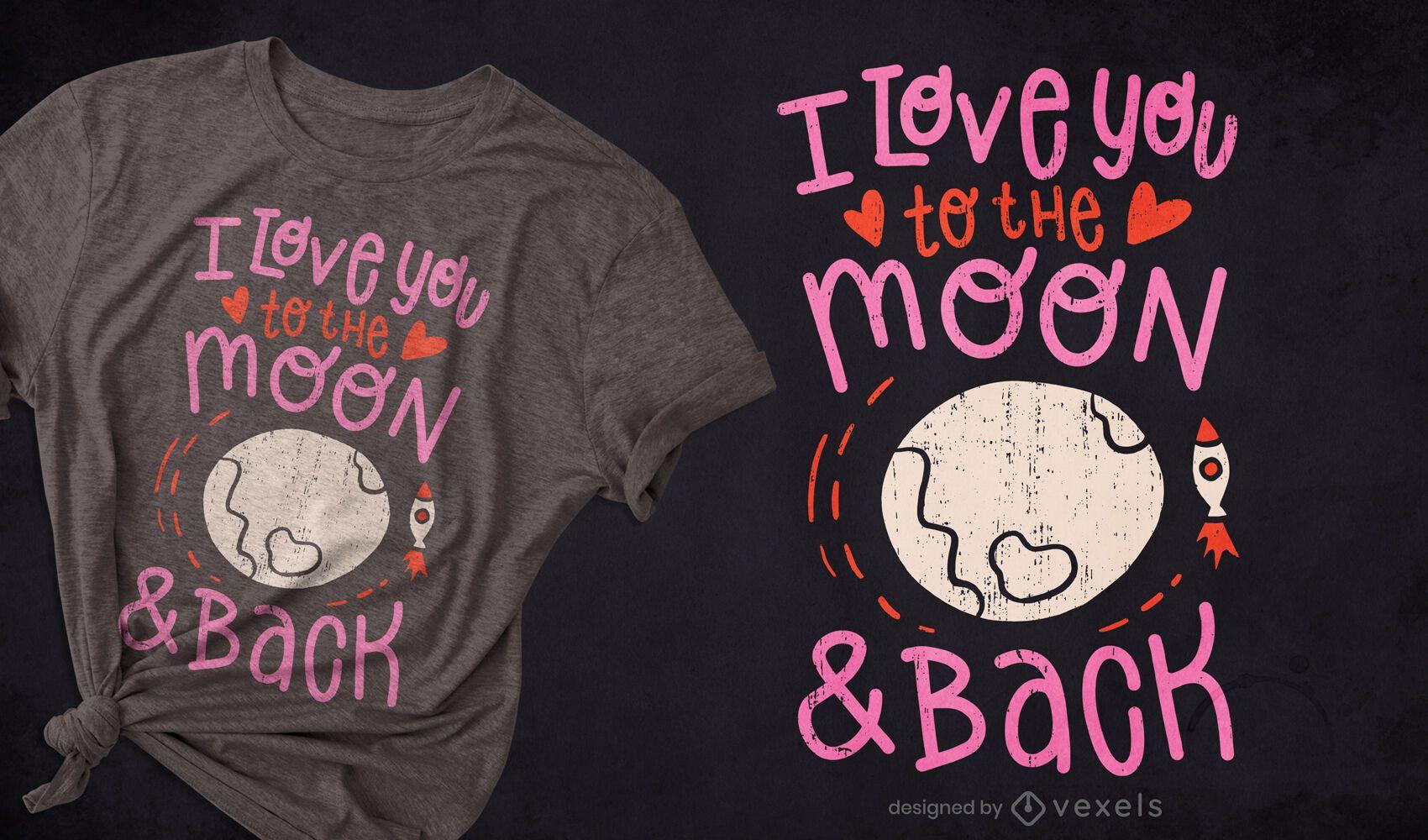 I love you t-shirt design
