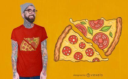 Diseño de camiseta rebanadas de pizza.