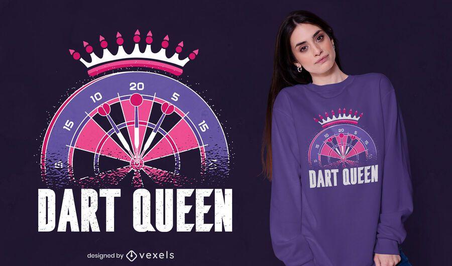 Diseño de camiseta Dart Queen