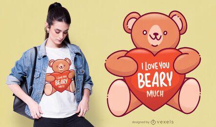 Diseño de camiseta Beary Much
