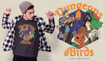 Dungeons & birds t-shirt design