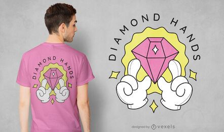 Diamond hands t-shirt design