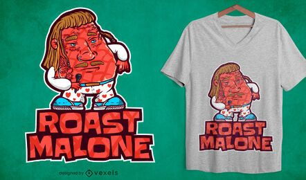 Diseño de camiseta roast malone