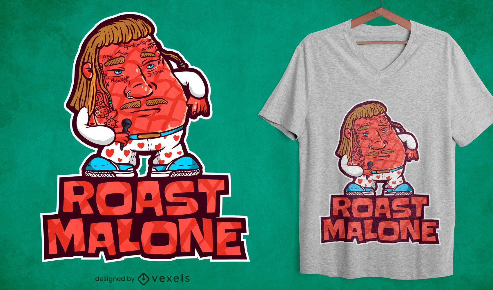 Roast malone t-shirt design