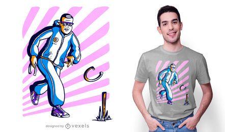 Diseño de camiseta de juego de herraduras.