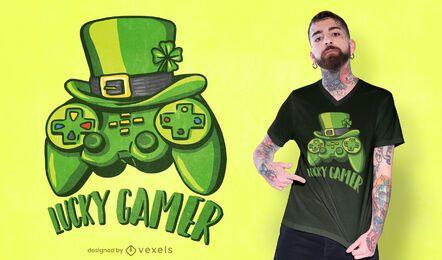 Diseño de camiseta Lucky Gamer