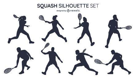 Squash silhouette set