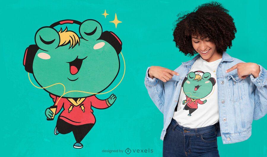 Frosch Cartoon T-Shirt Design
