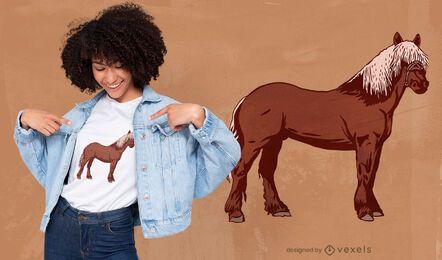 Diseño de camiseta de pie de caballo.