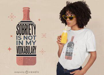 Diseño de camiseta de vodkabulary