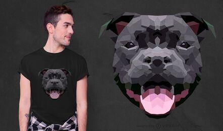 Design de camiseta para cães de poliéster baixo