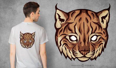 Diseño de camiseta con cara de lince bebé