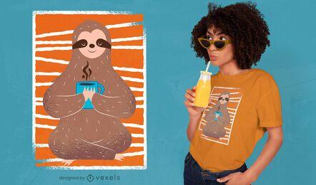 Design de camiseta para preguiça relaxada