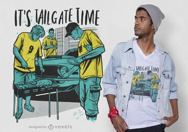 Tailgate time t-shirt design