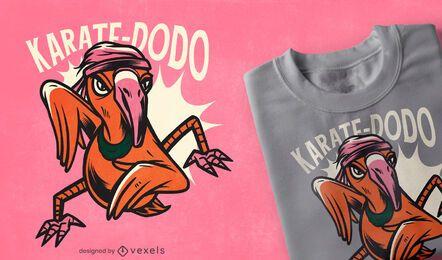 Diseño de camiseta de karate dodo