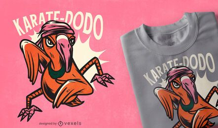 Karate dodo t-shirt design