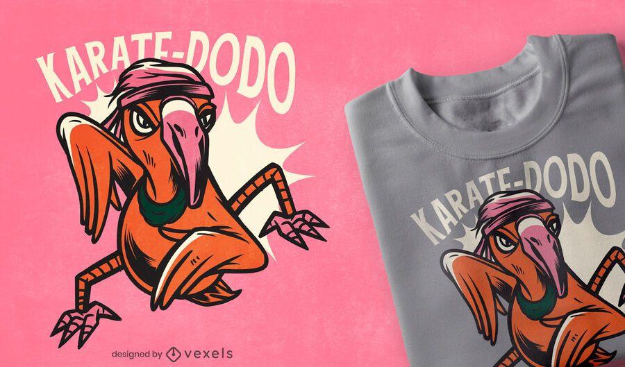 Karate Dodo T-Shirt Design