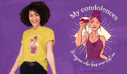 Design de t-shirt feminina