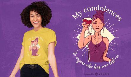 Diseño de camiseta de mujer tostada