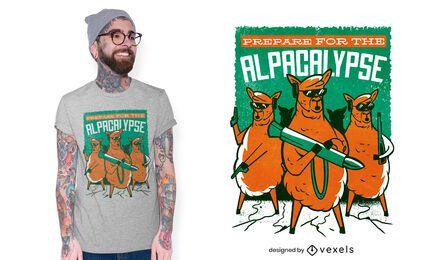 Alpacalypse t-shirt design