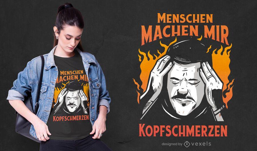 Annoyed German quote t-shirt design