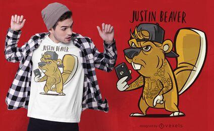 Design de camiseta Justin Beaver