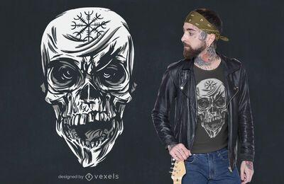 Gruseliges Totenkopf-T-Shirt Design