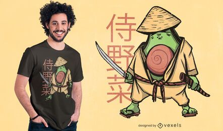 Diseño de camiseta de aguacate samurai.