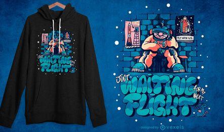 Quebrou design de t-shirt de astronauta