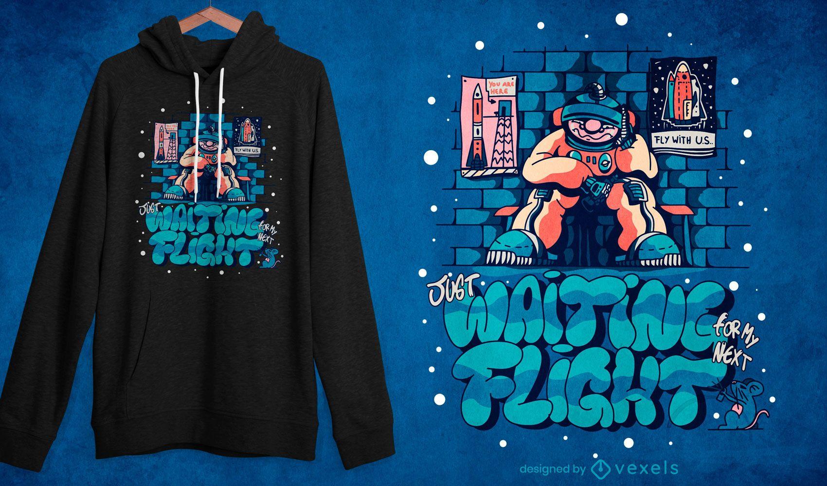 Broke astronaut t-shirt design