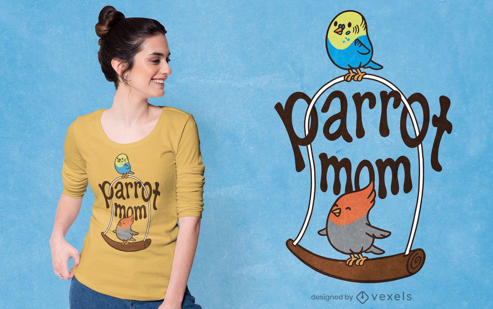 Parrot mom t-shirt design