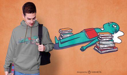 Diseño de camiseta de estudiante llorando.