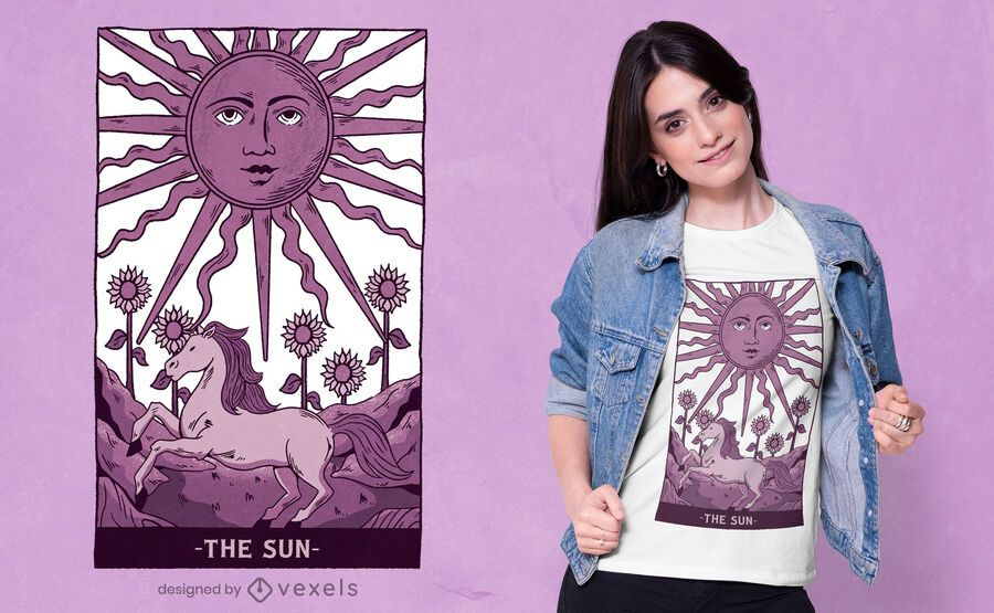Sun tarot card t-shirt design
