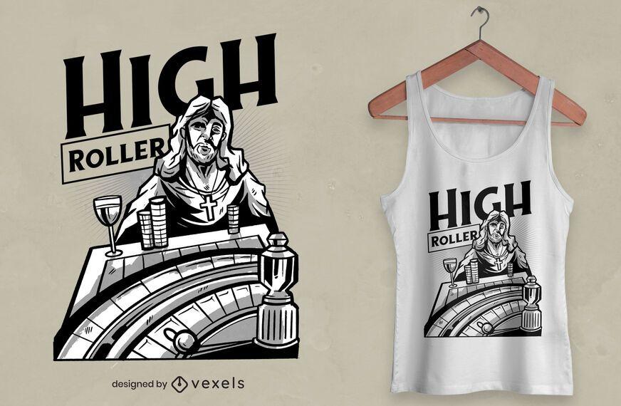 Casino jesus t-shirt design