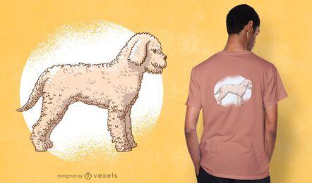 Diseño de camiseta de caniche lindo