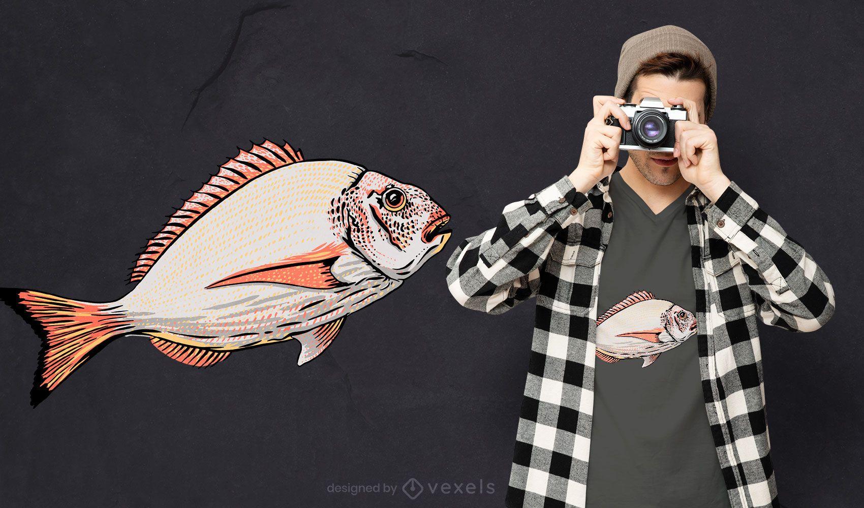 Gilt-head bream fish t-shirt design