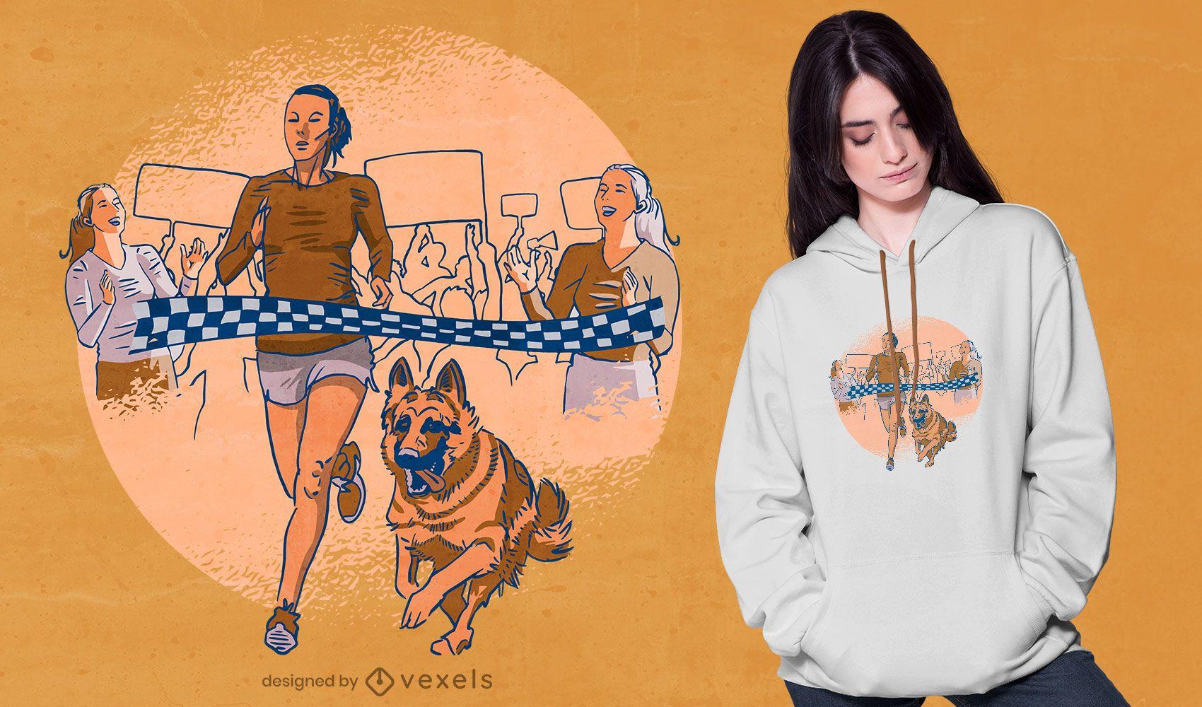 Race dog t-shirt design