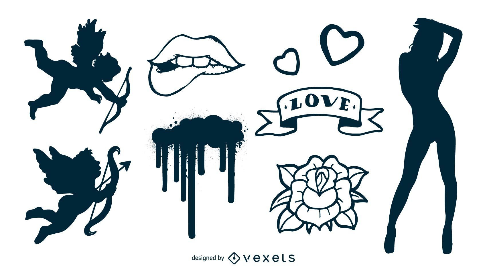 Mixed crazy items free vector pack