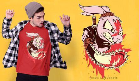 Design de t-shirt do coelho assassino