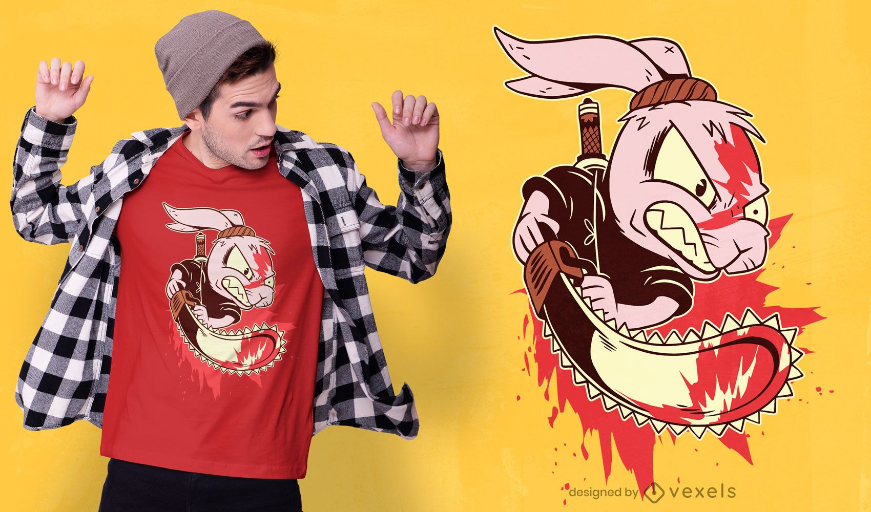 Dise?o de camiseta de conejo asesino