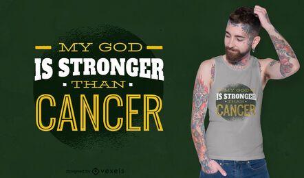 Design de camiseta com citação de câncer