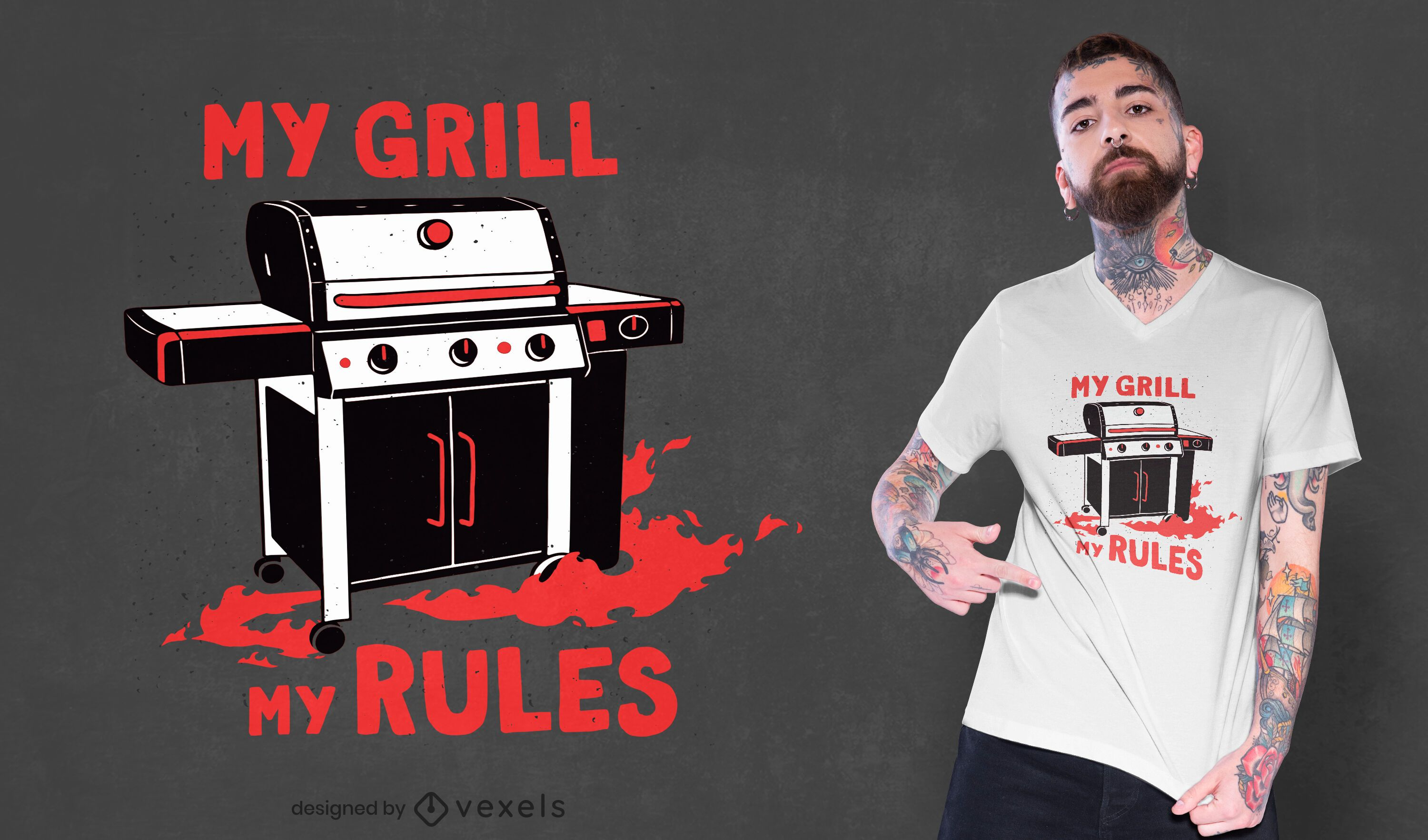 Grill rules t-shirt design