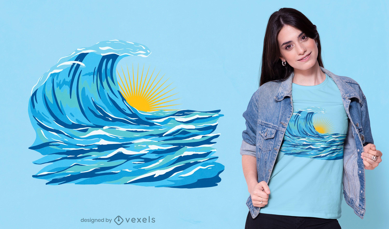 Ocean sunset t-shirt design