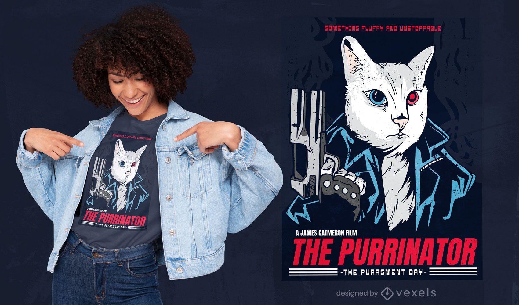 The Purrinator t-shirt design