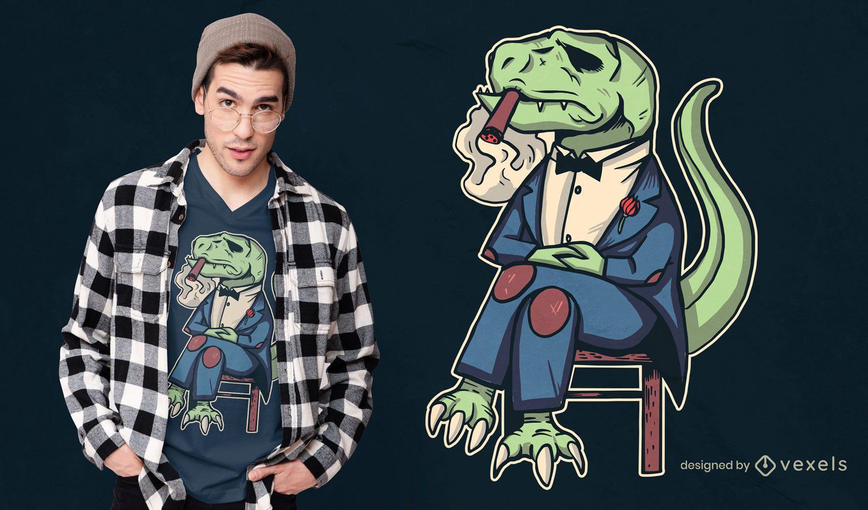 Design de camiseta da Mafia t-rex