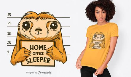 Home office sloth t-shirt design