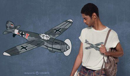 Diseño de camiseta de avión bf 109