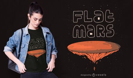 Design de t-shirt Flat Marte